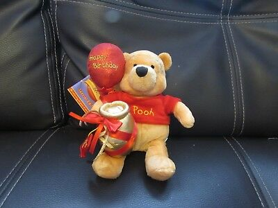 Collectable Soft Plush 80Th Birthday Pooh Bear Toy Disney Store Special Edition