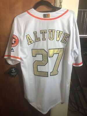 aaa6fe5fd0b ... promo code for nwt jose altuve 27 houston astros white and gold jersey  mens 2a39b da3a9