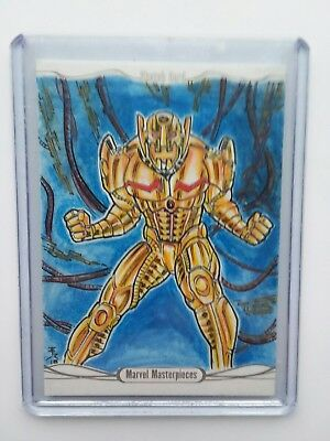 2016 Upper Deck Marvel Masterpieces Erwin Ropa Ultron Sketch Card