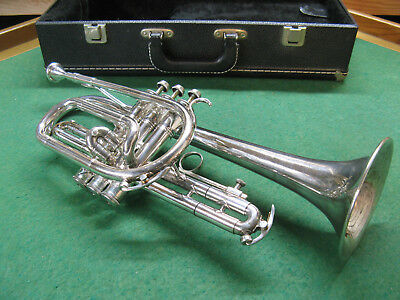 King Cleveland 602 Silver Cornet 1955 , Very Nice Solid Case, King 7M Mouthpiece
