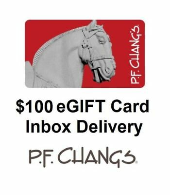 Pf Changs $100 Gift Card *same Day Delivery*