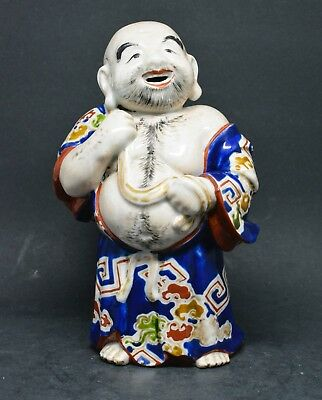 Antique Japanese Kutani Ho Tei /  Laughing Buddha 1920's ~ 6.25 Inches tall ~ 🐘
