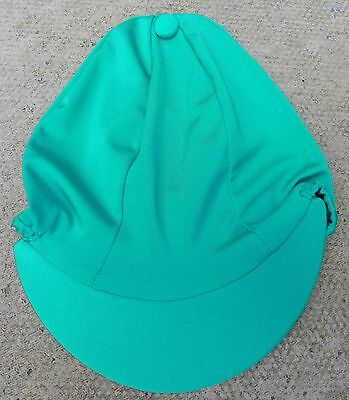Riding Hat Silk Skull cap Cover JADE GREEN  * PLAIN  With OR w/o Pompom