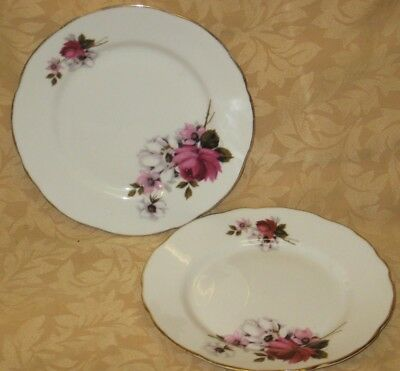 "2 x Royal Stafford Honeybunch English Bone China 7"" Side Plates - more available"