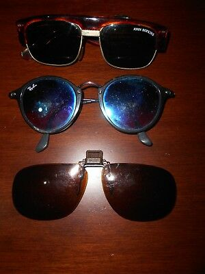 Lotto Occhiali Da Sole Vintage Ray-Ban, John Hopkins E Pat Pend Made In Usa.
