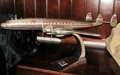 TWA SUPER CONSTELLATION AIRLINER AIRPLANE MODEL with TWA GRAPHICS