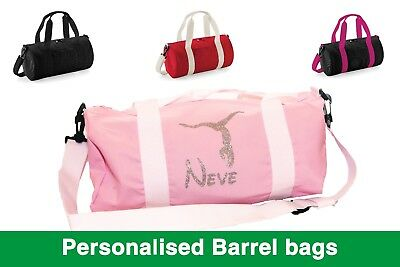 0ece153079 Personalised Barrel Gymnastics Ballet Dance Bag Kids Womens School Gym  Holdall