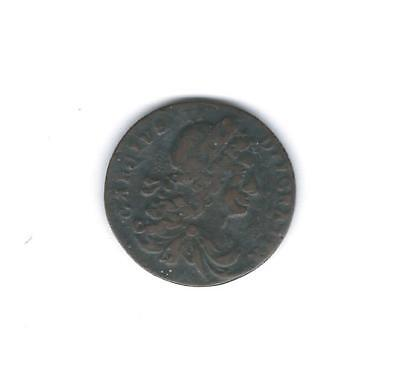 1683, 1/2 Penny, Ireland; Armstrong Issue of early on..