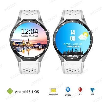 WHITE ONLY Android 4GB Bluetooth 3G Smart Watch GPS WIFI SIM For Android IOS