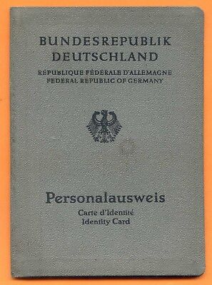 FEDERAL REPUBLIC OF GERMANY (West Germany) PASSPORT, 1963, KÖLN. (A542)