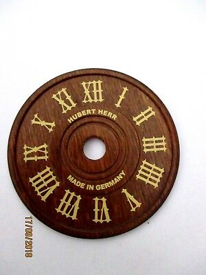 "2 3/4""  Wooden  Hubert Herr  Cuckoo clock Dial,"