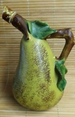 Vintage Portugal Secla  Ceramic Bottle Vase WITH Removable Cork Stopper