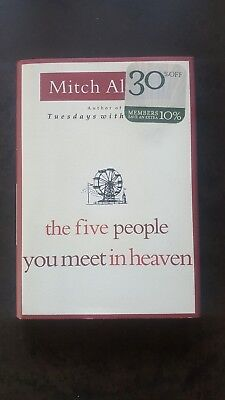 First Edition -The Five People You Meet in Heaven- Mitch Albom(2003, Hardcover)
