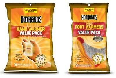 HotHands Hand Warmers 10 Pair + Insole Foot Warmers 5 Pair Combo Men Women Cold
