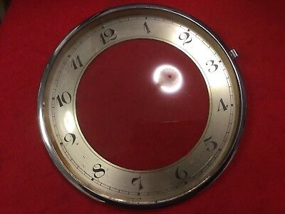 Chrome Bezel And Convex Glass Dial   From  An Antique Mantel Clock H.A.C.