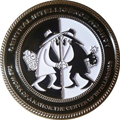"""CIA Spy vs Spy 2"""" Challenge coin Unique """"The work of a nation"""" 40"""
