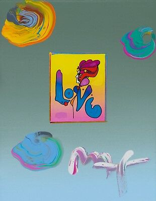 Peter Max, LOVE original with Max certificate - in the style of Warhol
