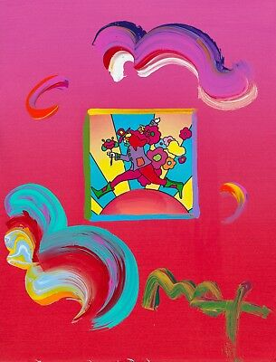 Peter Max, Cosmic Jumper original with Max certificate on paper MINT
