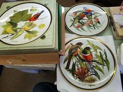 Lot of bird Plates 8  Beautiful Maxwell Williams,lenox collection,Arthur singer!