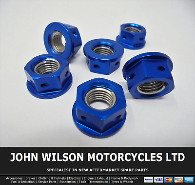 Suzuki GSF 1250 A Bandit ABS 2011 Blue Aluminium Race Sprocket Nuts