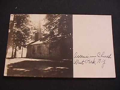 1918 Ascension Church, West Park, New York Real Photo Postcard