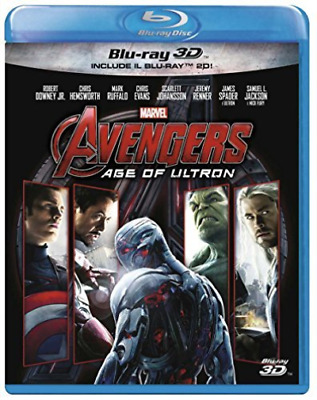 Movie-Avengers - Age Of Ultron (3D) (Blu-Ray+Blu-Ray 3D) - (Italia Blu-Ray NUOVO