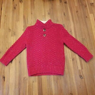 Cat and Jack Red Boys Christmas Sweater Size 2T Cableknit