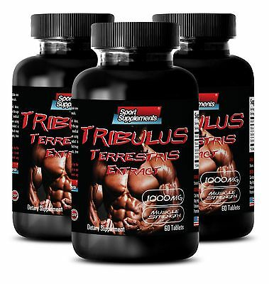 40% Saponins Extract - Tribulus Terrestris 1000mg - Male Stronger Orgasms 180Tab