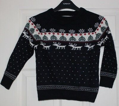 Childs festive Knit boys Christmas Jumper Age 5 from Next (1)