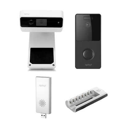 Remo+ DoorCam + RemoBell Black + Chime + Charger