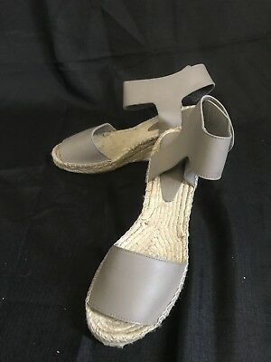 fe4b4b9186c VINCE WOMEN'S TAUPE Wedge Leather Espadrille Wedge Sandal Sz 10