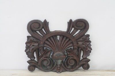 Antique Victorian Cast Iron Architectural Element Ornate Building Salvage
