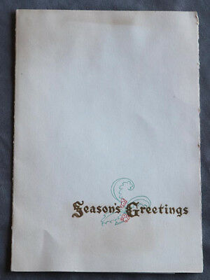 1937 Disney Studio Corporate Christmas Card Featuring Snow White W/ 2nd card