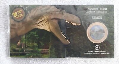 2010 CANADA 50 Cents Colorized Proof Coin Dinosaur Exhibits
