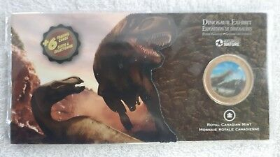 Dinosaur Exhibits 50 Cents Colorized Proof Coin Canada 2010