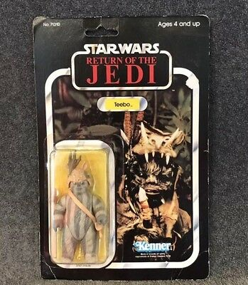 Vintage Star Wars Teebo 1983 Kenner Return Of The Jedi 77A Card Taiwan Coo Moc
