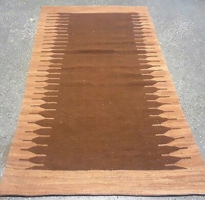 """1950's VINTAGE AFGHAN 3'.4""""x6'.4 Handknotted Contemporary 100% wool kilim DS-187"""