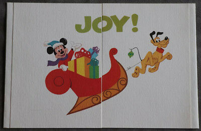 1974 Disney Studio Corporate Christmas Card Featuring Characters on Sleigh