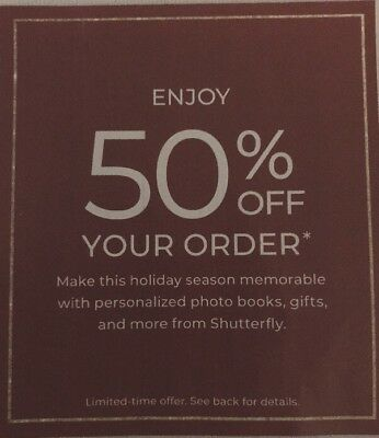 SHUTTERFLY 50% Off Purchase Promo Discount Code Holiday Photo Book Print Online