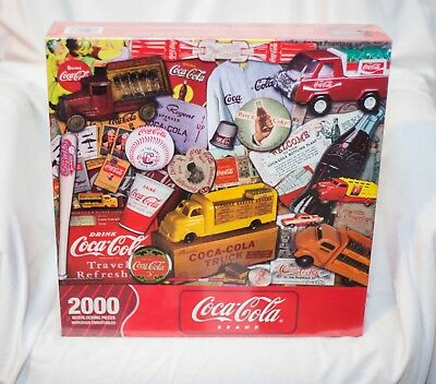 Springbok COCA COLA Jigsaw Puzzle 2000 Pieces Through the Decades Hallmark