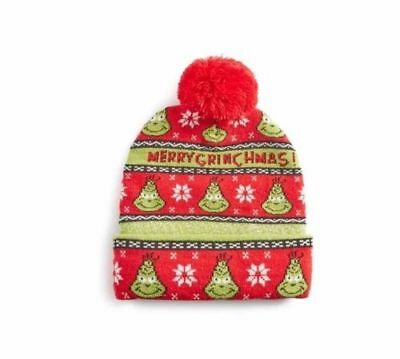705a05247f097 The Grinch Christmas Beanie Bobble Pom Pom Winter Hat Women s Mens Primark  New