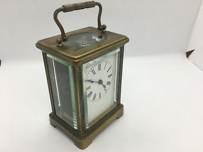Antique Brass Carriage Clock c1900 French Carriage Clock
