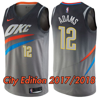 best service b2027 0d162 OKLAHOMA CITY THUNDER Steven Adams Nike Swingman Jersey - OKC City Edition  NEW