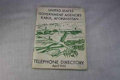 Original Vtg 1961 Us Forces & Agencies Kabul Afghanistan  Telephone Directory