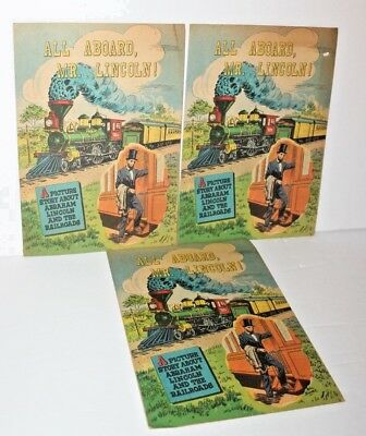 Lot of 3 All Aboard Mr. Lincoln Comics by Association of American Railroads