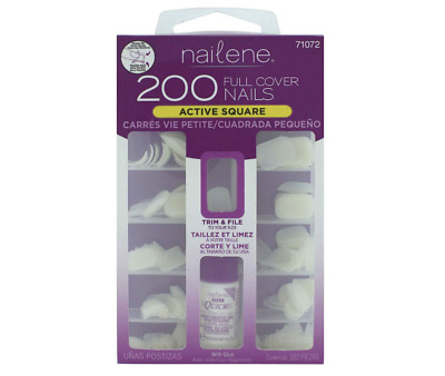 New Nailene Nails Full Cover Short Square includes 200 Nails BUY 1 GET 1 20% OFF