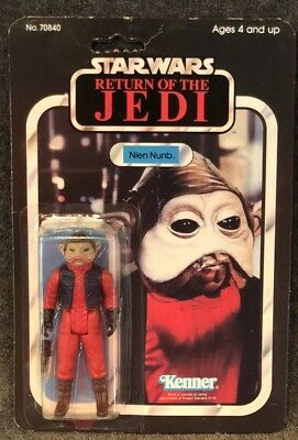 Vintage Star Wars Nien Numb 1983 Kenner Return Of The Jedi 65B Cardback Moc
