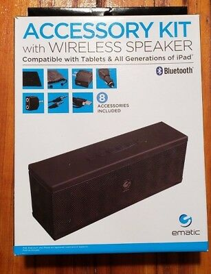 NEW BLACK EMATIC ACCESSORY KIT WITH WIRELESS SPEAKER  Item # ESB112X