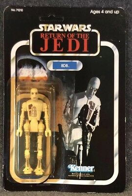 Vintage Star Wars Unpunched 8D8 1983 Kenner Return Of The Jedi 77A Cardback Moc
