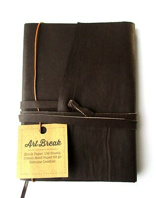 "Diaries & Journals Brown 5"" Handmade leather Notebook Writing Journal Ruled"